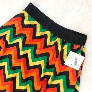 LuLaRoe Size Medium Lola Colorful Chevron skirt